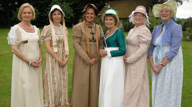Dressed up for Jane Austen Regency Week in Alton, Hampshire