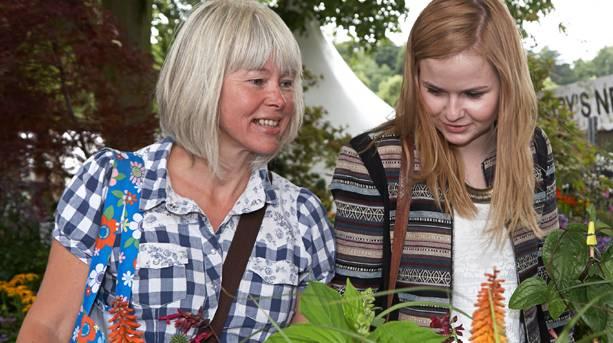 Two women at Shrewsbury Flower Show