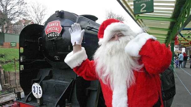 Santa at Swanage Railway.