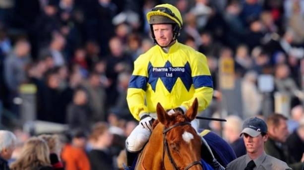 A jockey at Exeter Racecourse