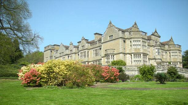 View of Stokesay Court, film location for 'Atonement'