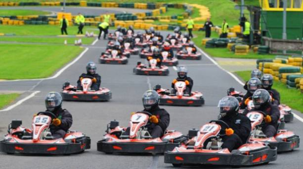 Go karts racing at Kartning North East