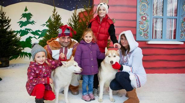 Hug a husky at Drusillas Winter Wonderland
