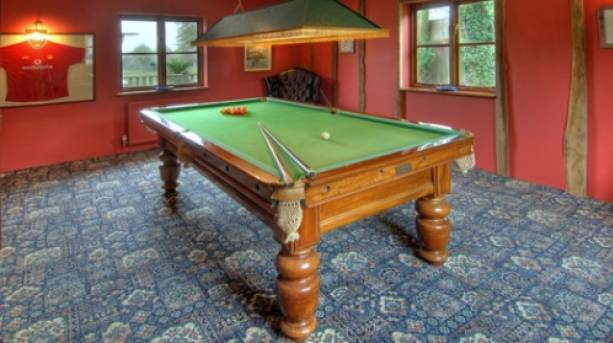 A pool table at The Manor Farmhouse