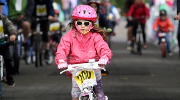 A child cycling at Cycle Live festival in Nottingham