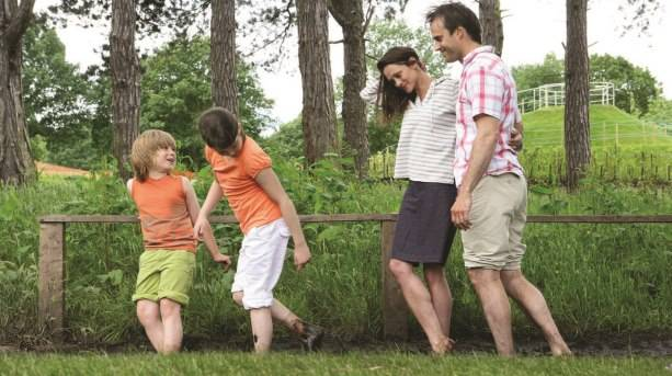Barefoot walk at the Trentham Estate