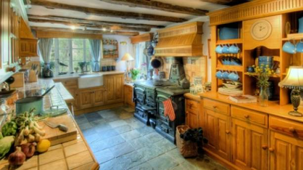 A kitchen at Manor Farmhouse, Kent