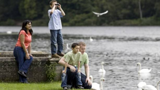 A family at Clumber Park