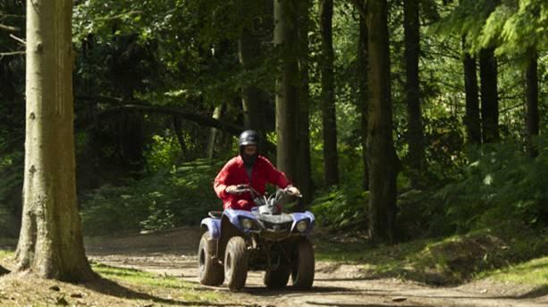 Quad biking at Oaker Wood
