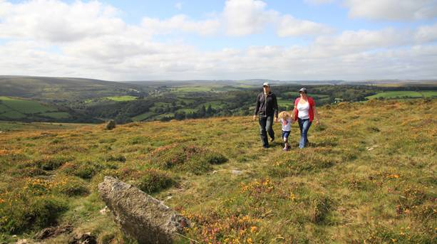 A Family Walking at Coffinstone