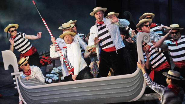 A performance at the Gilbert & Sullivan festival