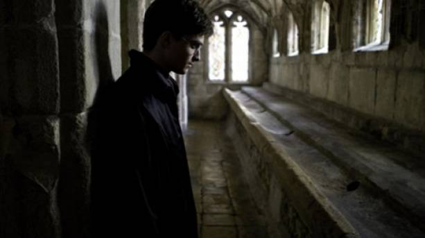 Daniel Radcliffe at Gloucester Cathedral Cloisters