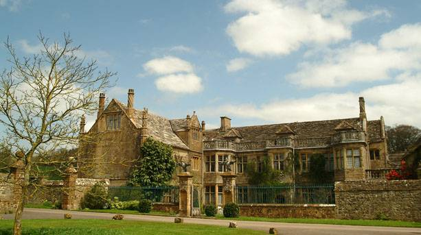 View of Mapperton House in Dorset