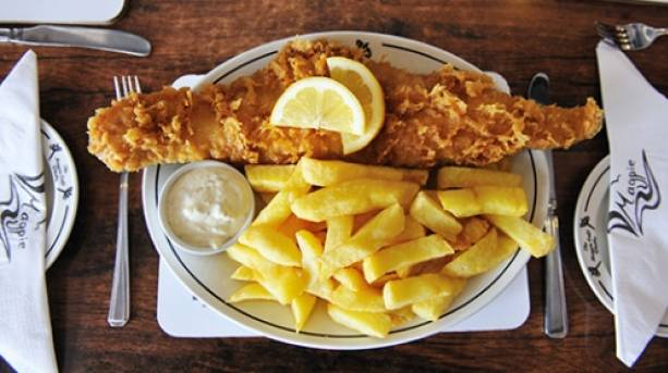 Enjoy fish and chips from the famous Magpie Café in Whitby