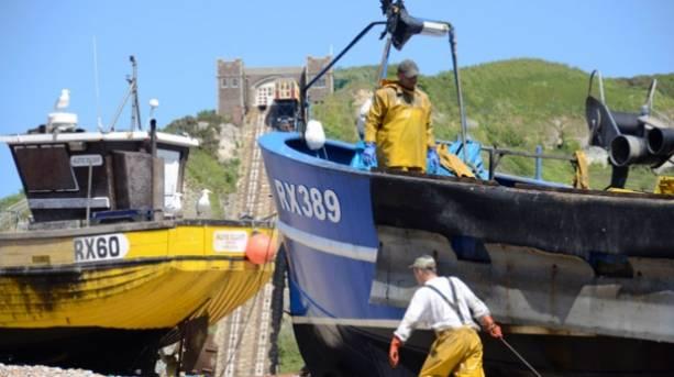 Fishermen on Stade Boats in Hastings
