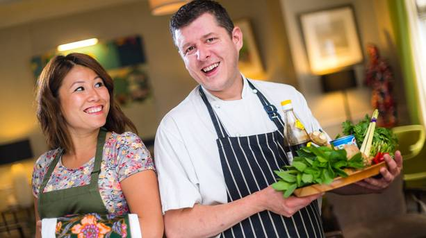 Ping Coombes and Chris Staines