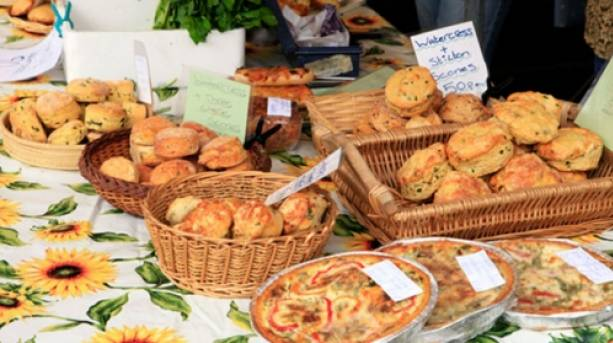 Local produce on a market stall