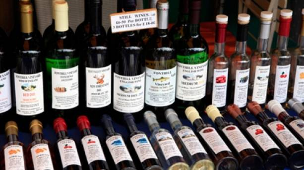 Locally produced wines
