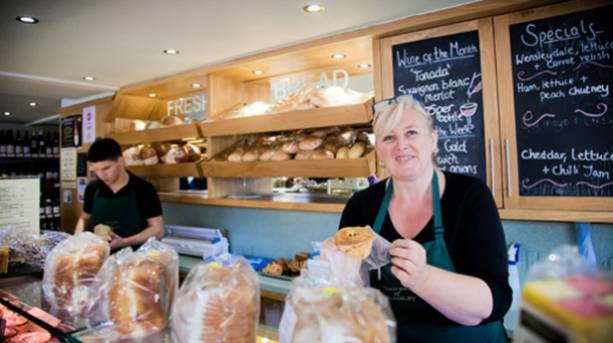 Inside deli and speciality food store, Hunters of Helmsley