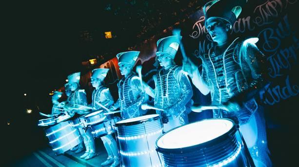 Freedom Festival illuminated performers