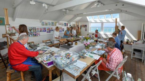 St Ives School of Painting in the studio