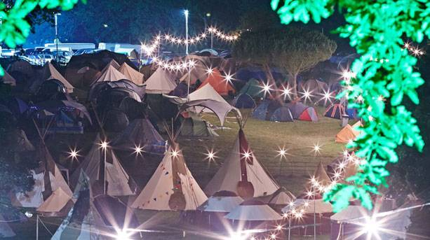 Campsite at Port Eliot Festival