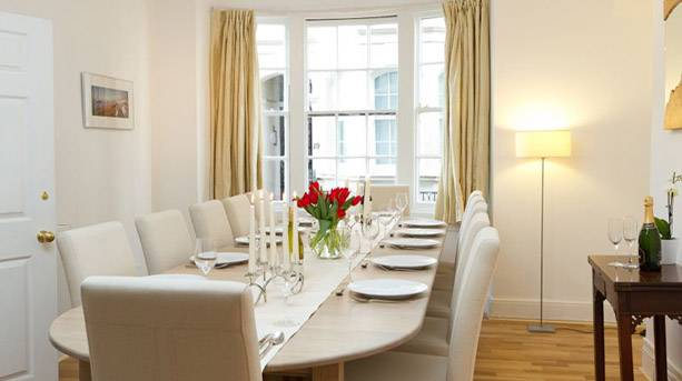 Dining room at the Central Brighton Town House