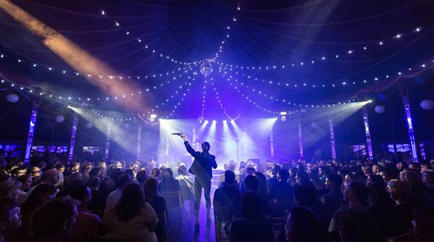 A tea dance at the Speigeltent, Norfolk & Norwich Festival, Norwich