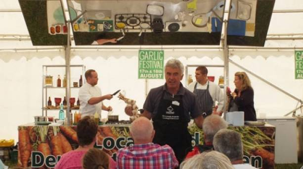 Cooking Demonstrations at Garlic Festival, Isle of Wight