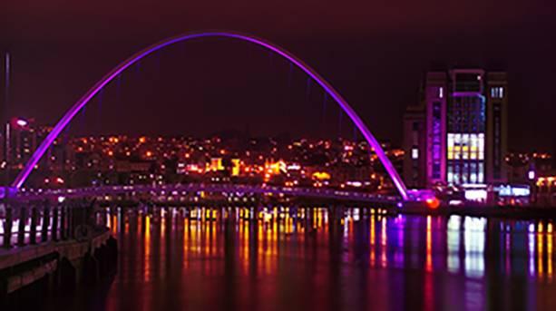 Gateshead Millenium Bridge and Baltic Centre for Contemporary Art