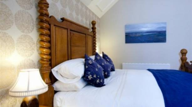 One of the bedrooms at Goldstone Hall Hotel