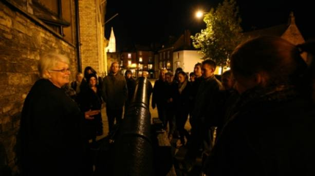 Ghost tours outside Lincoln Castle