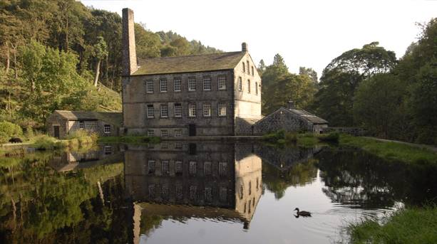 Gibson Mill, located at the heart of Hardcastle Crags, is the National Trust's flagship sustainable building