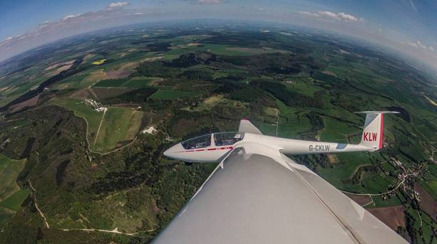 Take to the skies in a glider for breathtaking view over the North York Moors National Park including Kilburn White Horse