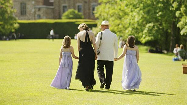A family at Glyndebourne