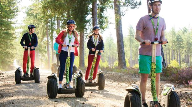 Get off the beaten track and explore Dalby Forest on a self-balancing Segway