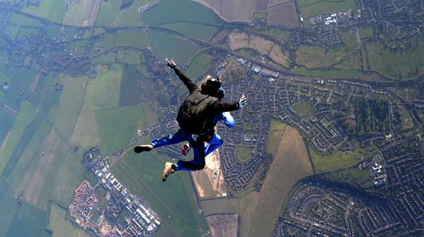 Skydiving on an adventure holiday