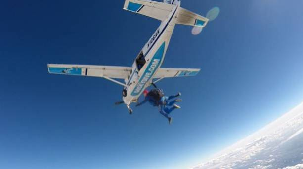 Skydiving above Wiltshire