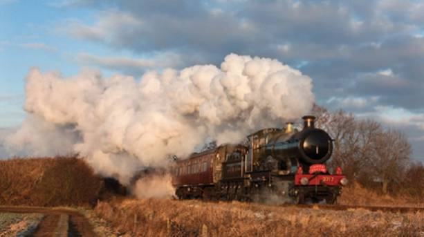 A steam locomotive at Great Central Railway - Nottingham