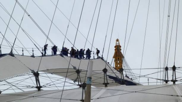 An exhilarating walk up and over The O2