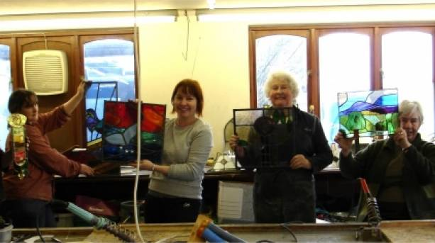 Group classes at the Stained Glass Centre
