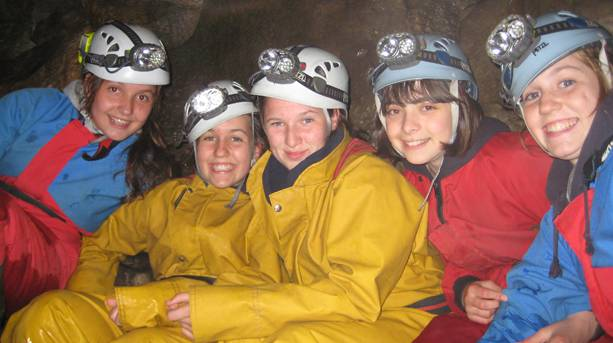A guided caving trip in the Yorkshire Dales