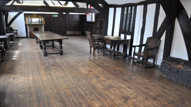 Inside Leicester's medieval Guildhall