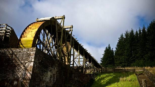Large water wheel at Killhope Lead Mining Museum