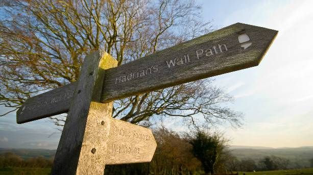 Hadrian's Wall Path signpost