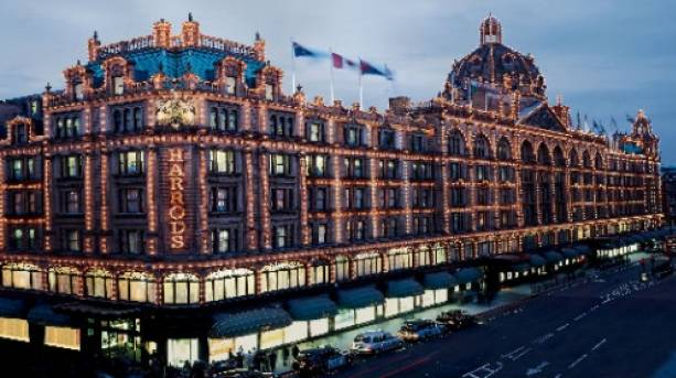 Harrods department store in Knightsbridge, London