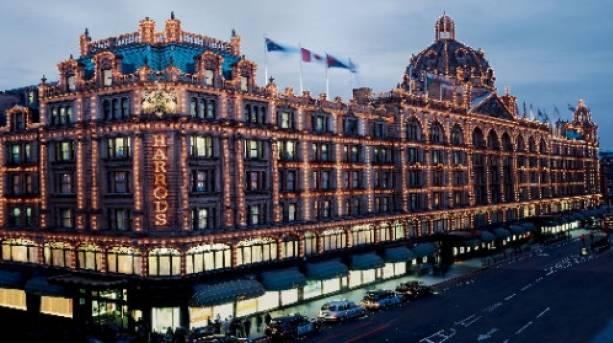 Harrods department store in Knightsbridge, London