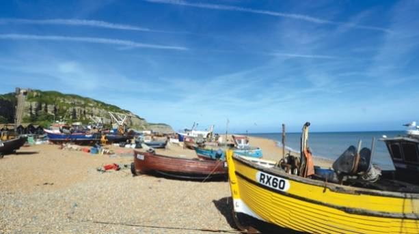 Boats on Hastings Stade