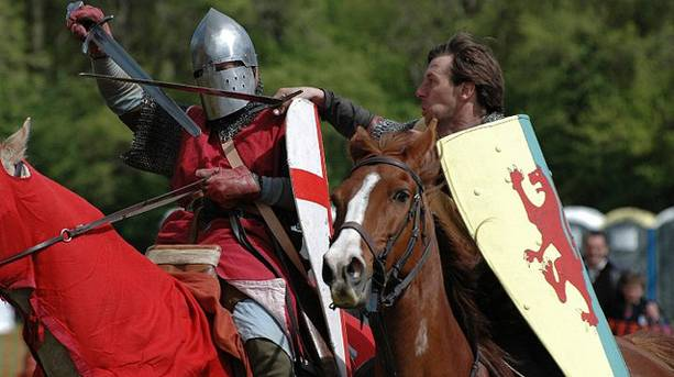 Reenactments at Castle Hedingham