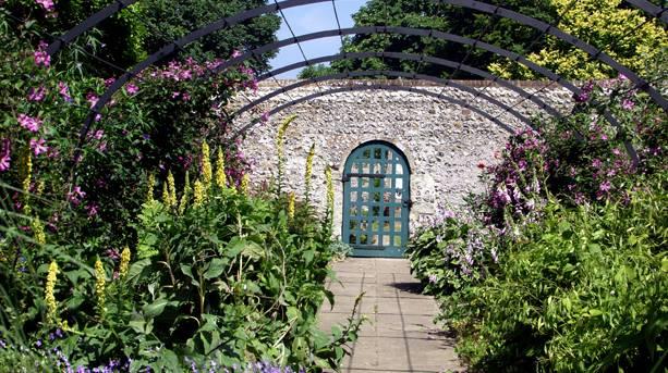 Preston Manor's walled garden